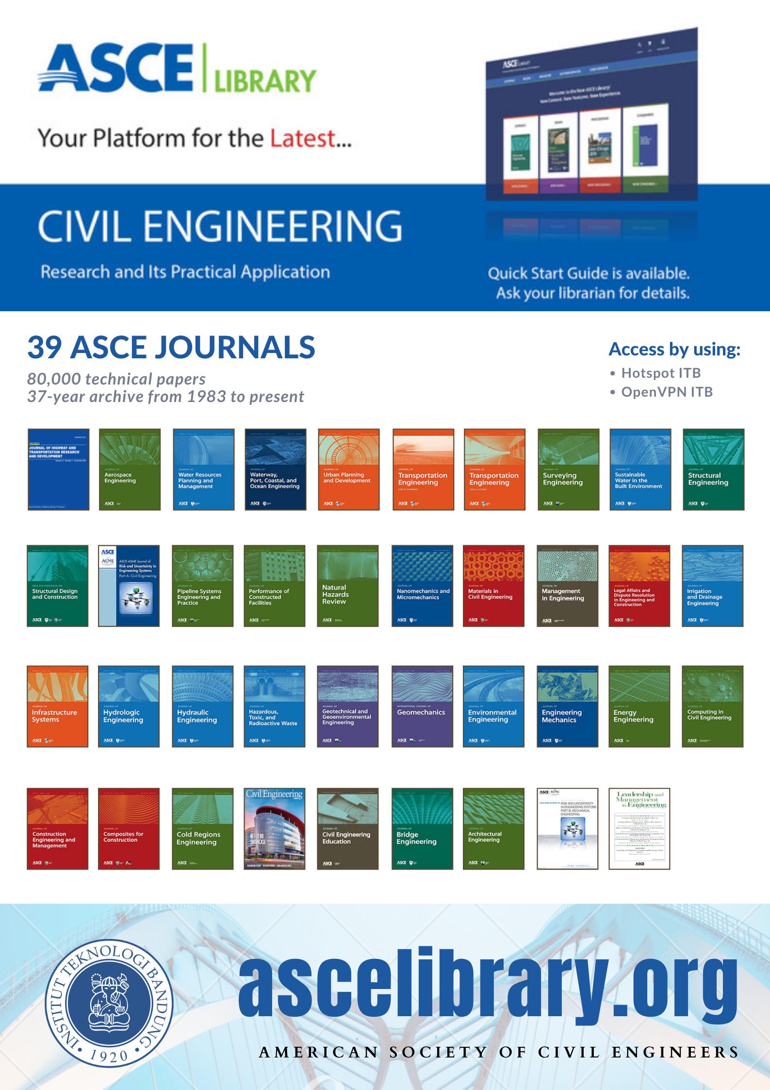 Akses e-Journal ASCE