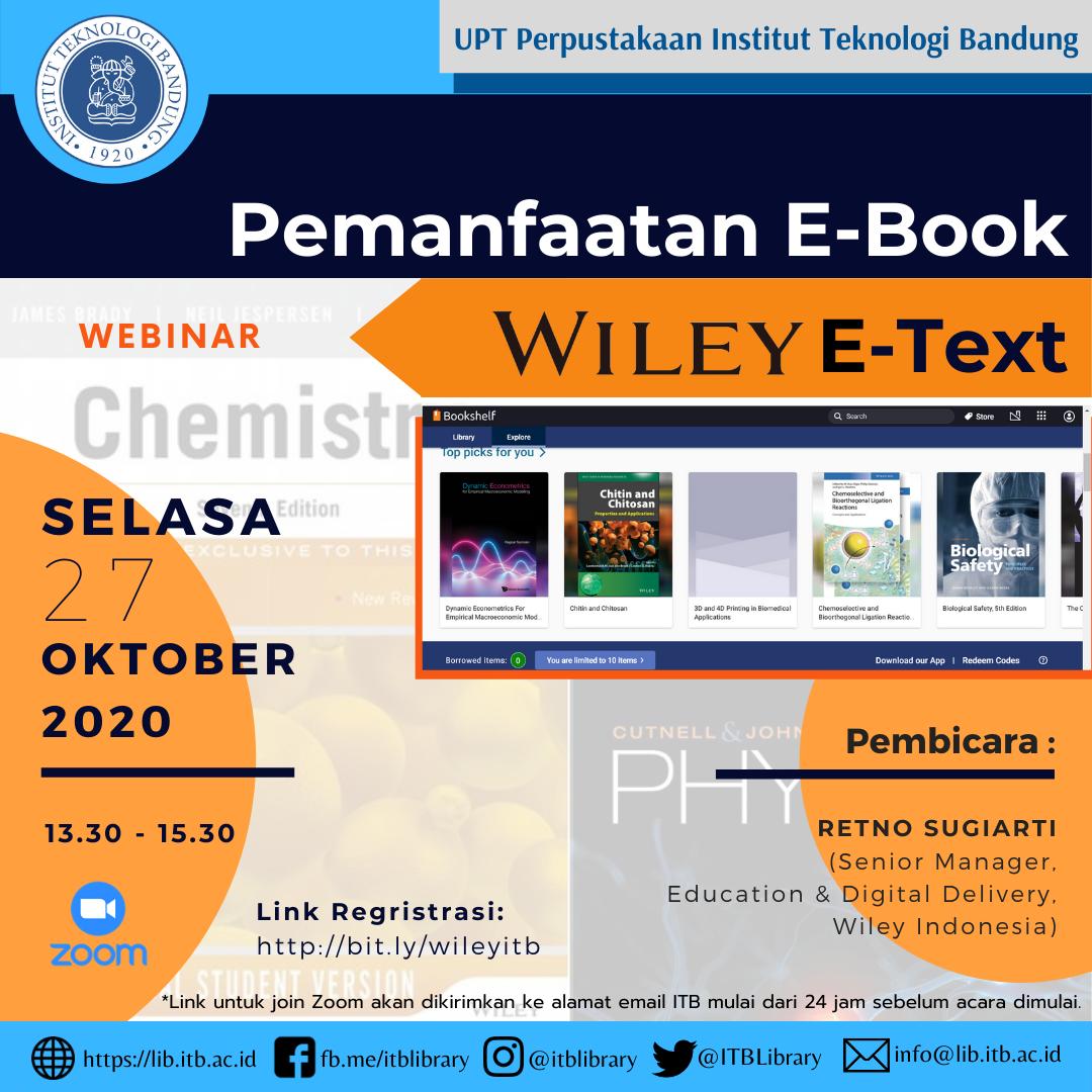[WEBINAR] Pemanfaatan E-Book Wiley E-Text