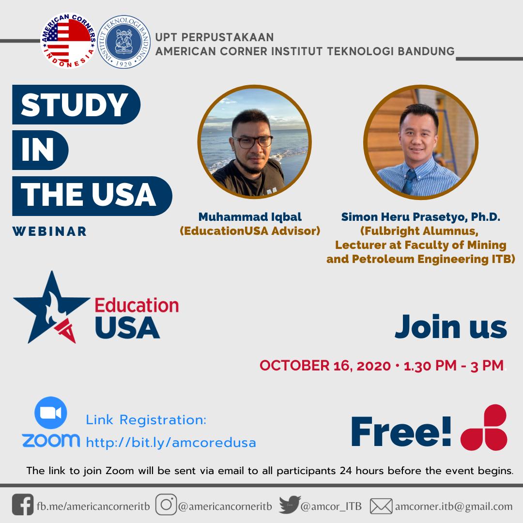 [WEBINAR] STUDY IN THE USA