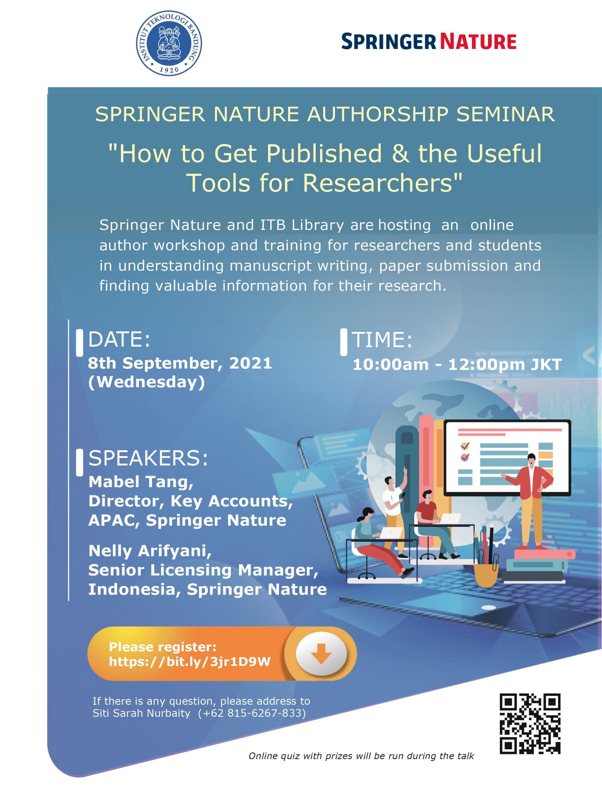 """Springer Nature Authorship Seminar """"How to Get Published & the Useful Tools for Researchers"""""""