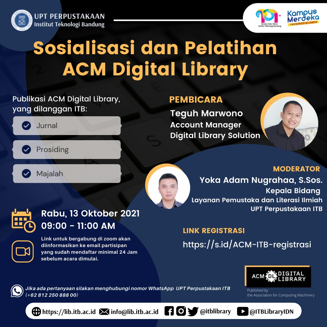 Sosialisasi dan Pelatihan ACM Digital Library