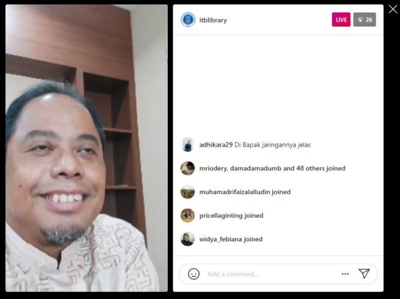 Live Instagram, Perpustakaan ITB